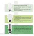 Comparison three different lamps vector image vector image