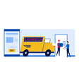concept of online shopping and delivery services vector image