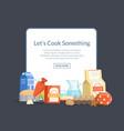 cooking ingridients or groceries vector image vector image
