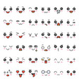 cute emotion face in various expession editable vector image vector image