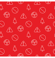 Danger and alarm red seamless pattern vector image