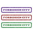 forbidden city watermark stamp vector image vector image
