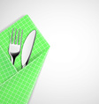 Fork and knife in a napkin vector image vector image