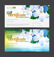 gift certificate or voucher template for cosmetics vector image vector image