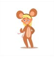 Girl Desguised As Mouse vector image vector image