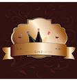 golden wine label design element vector image vector image