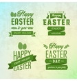 Happy Easter labels set vector image vector image