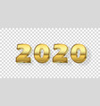 happy new year 2020 gold 3d number isolated white vector image vector image