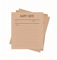 happy notes retro vector image
