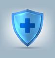 health shield realistic protection symbol vector image