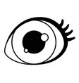 isolated silhouette eye design vector image