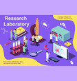 isometric concept research vector image vector image