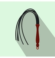 Leather whip icon flat style