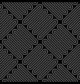 line art checkered seamless pattern vector image
