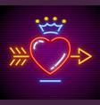 love heart with arrow vector image