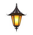 Medieval lamp isolated on white vector image vector image