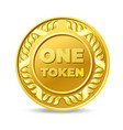 one token coin icon vector image