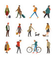 people daily outdoor life in casual clothes vector image vector image