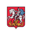 saint george coat arms vector image vector image