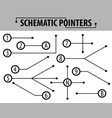 schematic pointers extension lines to indicate vector image vector image