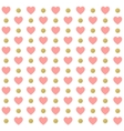 Seamless Valentines day polka dot red pattern with vector image vector image