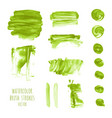 set of green watercolor texture backgrounds vector image vector image