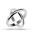 silver or platinum jewelry wedding rings vector image