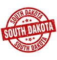 south dakota red round grunge stamp vector image vector image