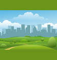 summer city landview vector image vector image