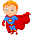 Super hero boy posing vector image vector image