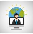 teacher education online global vector image vector image