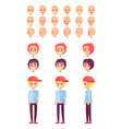 teenage boy personal constructor set of emotions vector image vector image