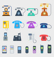 telephones icons different design vector image vector image