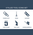 tool icons vector image vector image