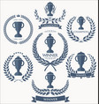 trophy and awards laurel wreath collection 3 vector image vector image