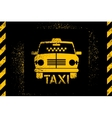 typographic graffiti retro grunge taxi cab poster vector image vector image