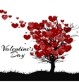 valentines day greeting card tree of love vector image vector image