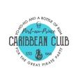 Vintage handcrafted label emblem Caribbean club vector image vector image