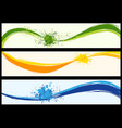 wavy abstract background banners vector image vector image