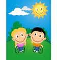 Wheelchair children vector image