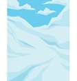 Winter scene with downhill slope blue sky and vector image