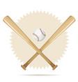 baseball retro banner with bats and ball vector image