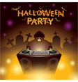 Halloween DJ Party vector image