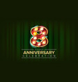8 years anniversary banner eight eighth vector image vector image