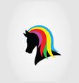 beauty horse logo vector image vector image