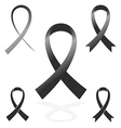 black sign ribbon cancer symbol vector image vector image