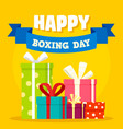 boxing day concept background flat style vector image vector image