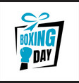 boxing day sale letter for banner web banner vector image