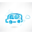 bus grunge icon vector image
