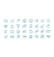 business hand drawn icons set elements for vector image